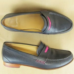 Cole Haan Penny Loafer Navy Pink Fashion Fun 9.5 B